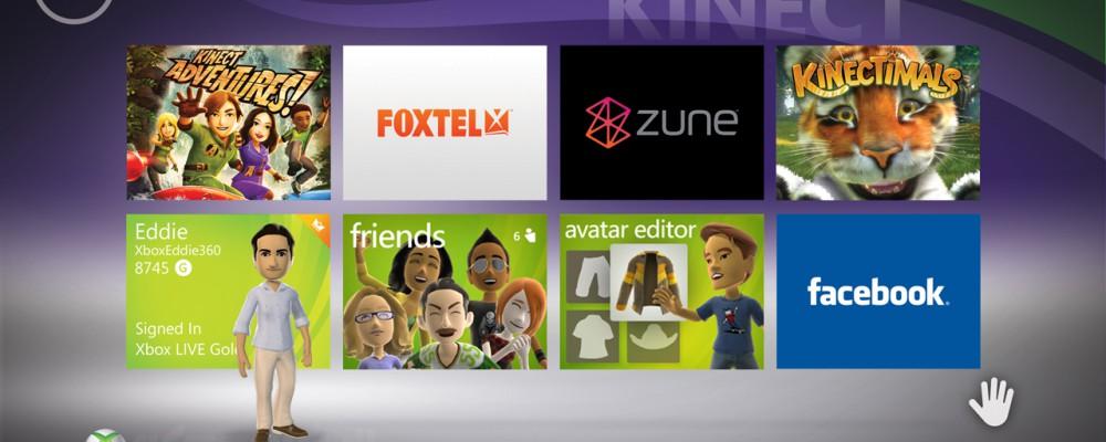 XBox Live meets Kinect