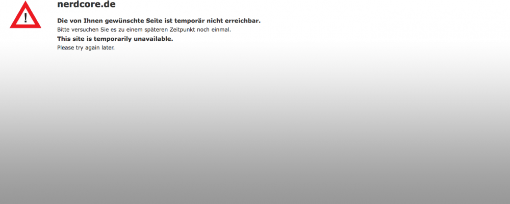 Vermischtes: Nerdcore.de ist down, Euroweb dran schuld?