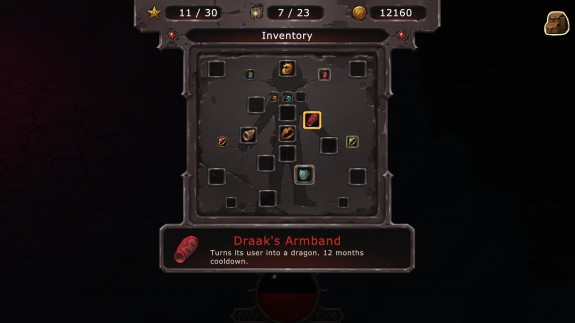 evoland's sucky inventory