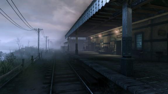 Am vernebelten Bahnhof verschwindet ein Zug auf mysteriöse Weise