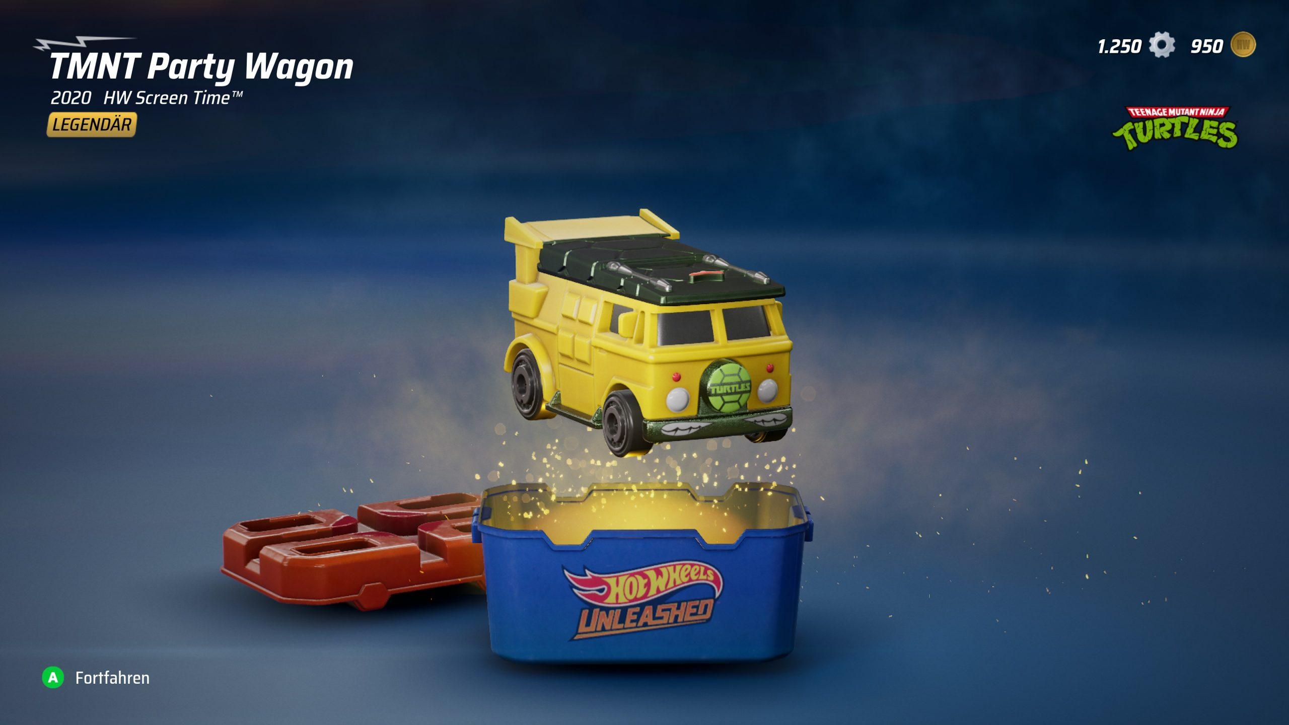 Mit etwas Glück holt man auch mal Legendäre Fahrzeuge aus Überraschungskisten. / Hot Wheels Unleashed