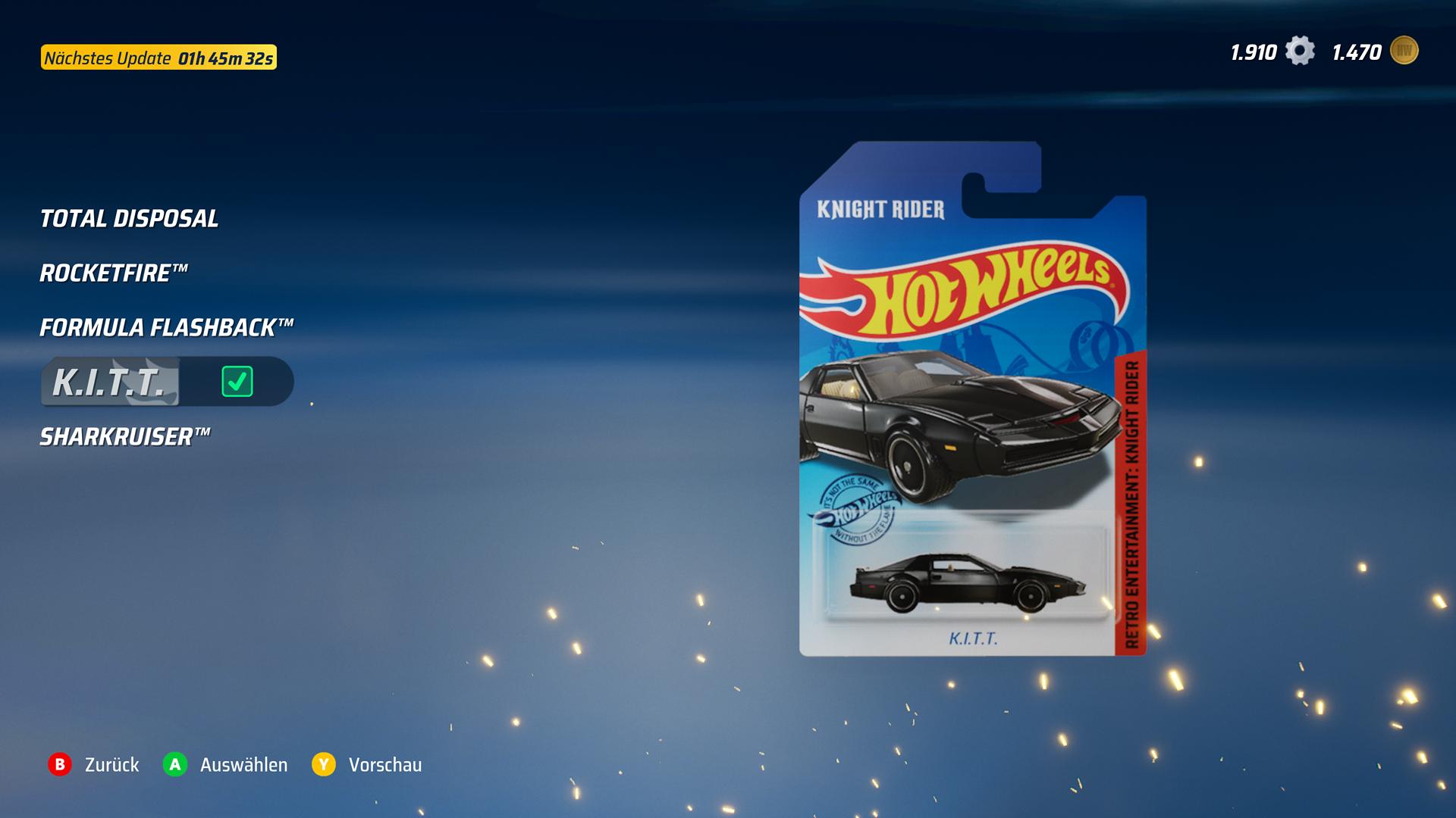 Im Shop gibt es immer wieder Angebote für Ingame-Münzen. / Hot Wheels Unleashed