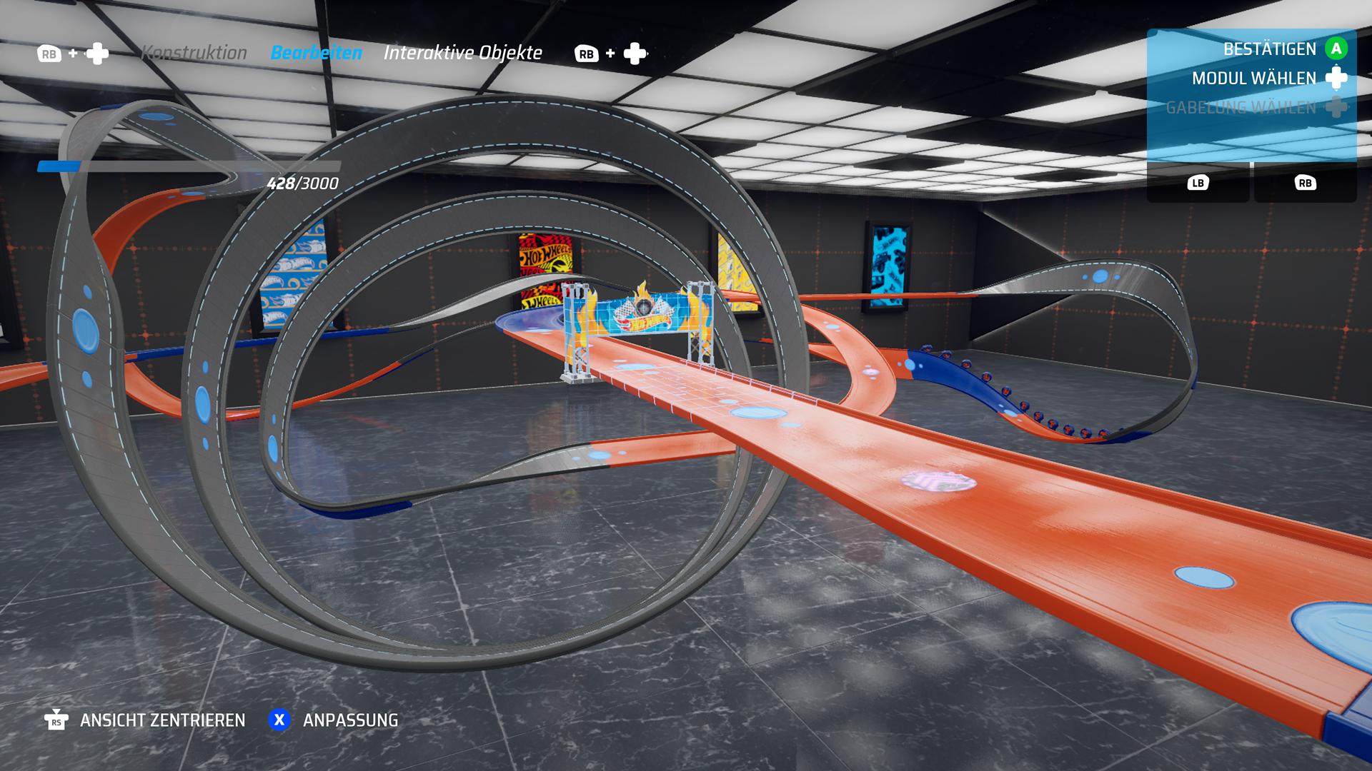 Der Track Builder bietet viele Möglichkeiten, ist aber auch komplex und nicht gerade Einsteigerfreundlich. / Hot Wheels Unleashed